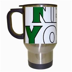 New York Italy Travel Mug (White)