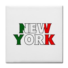 New York Italy Face Towel