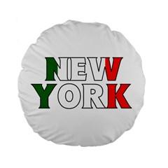 New York Italy 15  Premium Round Cushion