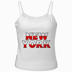 New York Poland White Spaghetti Tank