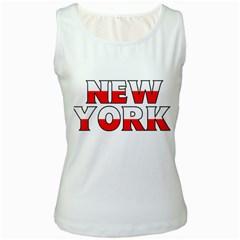 New York Poland Womens  Tank Top (White)