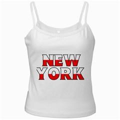 New York Poland White Spaghetti Top