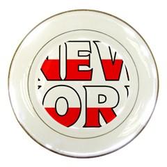 New York Poland Porcelain Display Plate