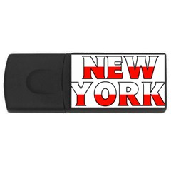 New York Poland 4GB USB Flash Drive (Rectangle)