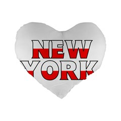 New York Poland 16  Premium Heart Shape Cushion