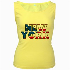 New York Pr Womens  Tank Top (Yellow)