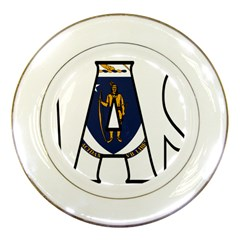 Massachusetts Porcelain Display Plate