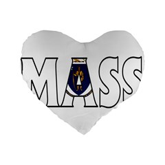 Massachusetts 16  Premium Heart Shape Cushion