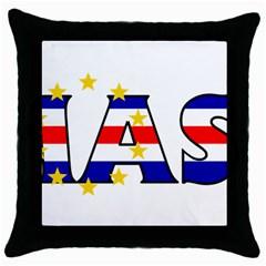 Mass Cape Verde Black Throw Pillow Case