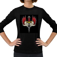 Gothic dagger Womens' Long Sleeve T-shirt (Dark Colored)