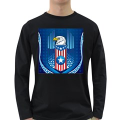 The American Eagle Mens' Long Sleeve T Shirt (dark Colored)