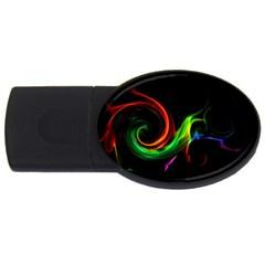 L232 2GB USB Flash Drive (Oval)