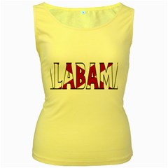 Alabama Womens  Tank Top (Yellow)