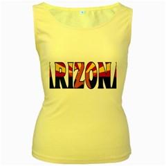 Arizona Womens  Tank Top (Yellow)