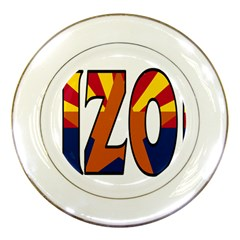 Arizona Porcelain Display Plate