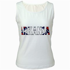 Arkansas Womens  Tank Top (White)