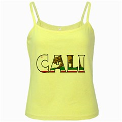 Cali Yellow Spaghetti Tank