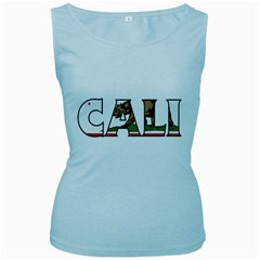 Cali Womens  Tank Top (Baby Blue)