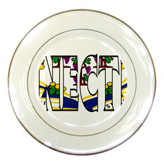 Conn Porcelain Display Plate