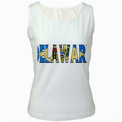 Delaware Womens  Tank Top (white)