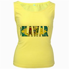 Delaware Womens  Tank Top (yellow)