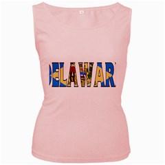 Delaware Womens  Tank Top (Pink)