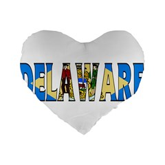 Delaware 16  Premium Heart Shape Cushion