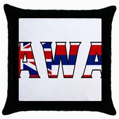 Hawaii Black Throw Pillow Case