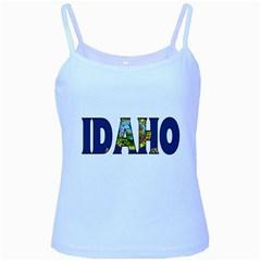 Idaho Baby Blue Spaghetti Tank