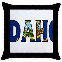 Idaho Black Throw Pillow Case