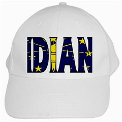 Indiana White Baseball Cap