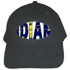 Indiana Black Baseball Cap