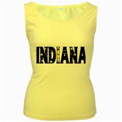 Indiana Womens  Tank Top (Yellow)
