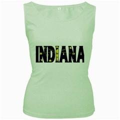 Indiana Womens  Tank Top (Green)
