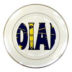 Indiana Porcelain Display Plate