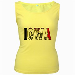 Iowa Womens  Tank Top (Yellow)