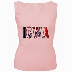 Iowa Womens  Tank Top (pink)