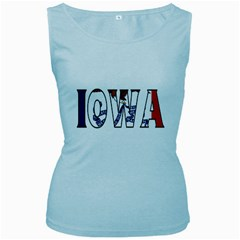 Iowa Womens  Tank Top (Baby Blue)