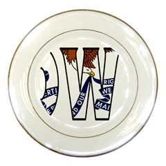 Iowa Porcelain Display Plate