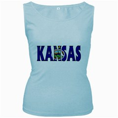 Kansas Womens  Tank Top (Baby Blue)