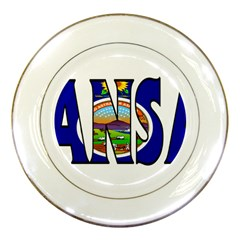 Kansas Porcelain Display Plate