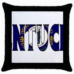 Kentucky Black Throw Pillow Case