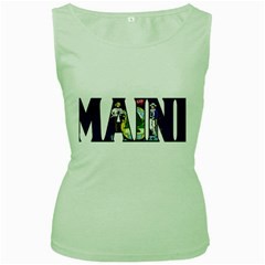 Maine Womens  Tank Top (Green)