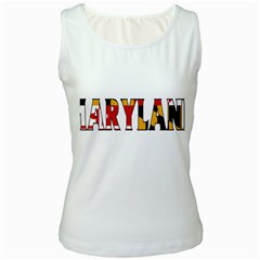 Maryland Womens  Tank Top (White)