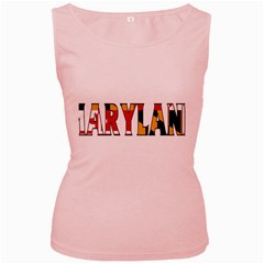 Maryland Womens  Tank Top (Pink)