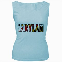 Maryland Womens  Tank Top (Baby Blue)