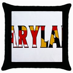 Maryland Black Throw Pillow Case