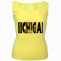 Michigan Womens  Tank Top (Yellow)