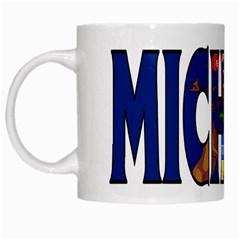 Michigan White Coffee Mug