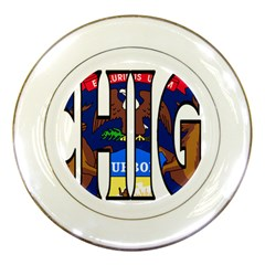 Michigan Porcelain Display Plate